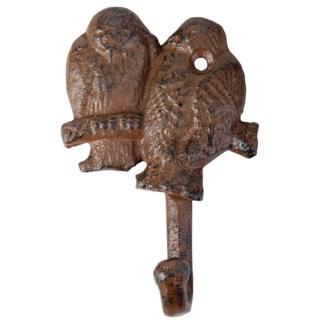 Bird silhouette hook. Cast iron. 8,7x3,2x12,5cm. oq/12,mc/48 Pg.140