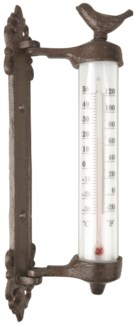 Wall thermometer bird in giftbox - (2.1x3.7x10.7 inches)