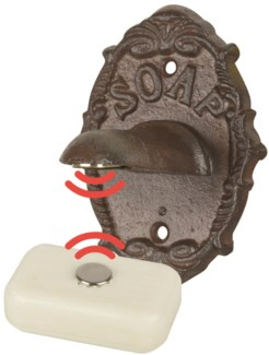 Magnetic Soap Holder in cast iron -  (3.2x3x4.3 inches)