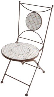 Botanicae chair. Ceramics, metal. 40,0x54,0x88,0cm.
