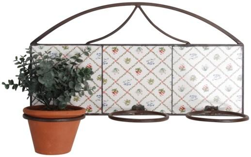 Botanicae potholder 3 pots. Ceramics, metal. 49,5x16,0x26,5cm. oq/4,mc/4 Pg.130