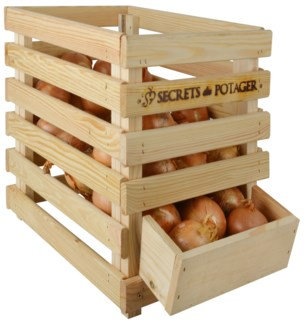 Wooden onion crate -  (15.7x19x15.7 inches)