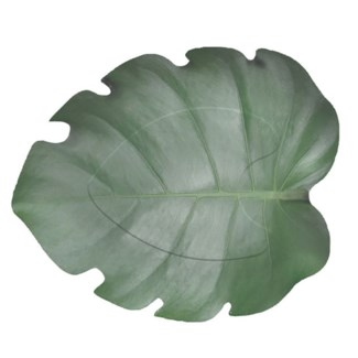 Paper plate leaf shape set/8 - 10.71x9.06x2.2