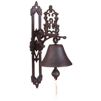 Doorbell classic antique brown. Cast iron. 13,0x19,5x35,8cm. oq/8,mc/8 Pg.43