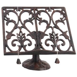 Cookbookstand classic antique brown. Cast iron. 26,2x13,2x24,0cm. oq/8,mc/8 Pg.141