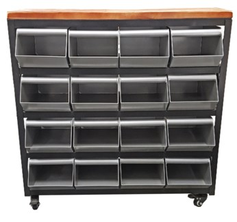 Junior 16 drawer metal display storage unit. 31x11x34.5inch - *50 percent off with $750 order of har