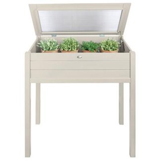 Tall cold frame white. Pinewood, glass. 90,0x50,5x101,0cm. oq/2,mc/1 Pg.127