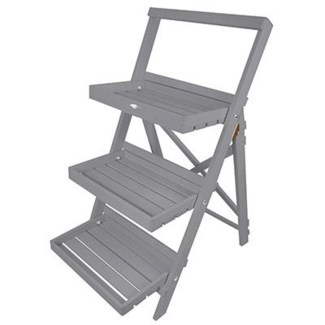 Stepped plant stand grey. Pinewood. 45,0x73,0x91,5cm. oq/2,mc/1 Pg.125
