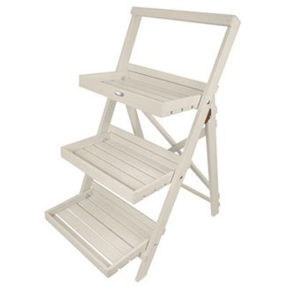 Stepped plant stand white. Pinewood. 45,0x73,0x91,5cm. oq/2,mc/1 Pg.127