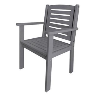Chair with arms grey. Pinewood. 37.9x24.6x22inch.Last chance FD 6.20.2016 50 percent off original pr