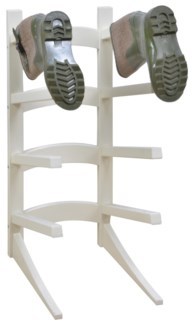 Standing boot rack white. Pinewood. 30,1x40,3x73,5cm. oq/1,mc/1 Pg.127