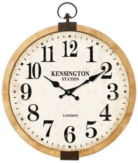 Kensington Station Clock, 17x12x17 Inches