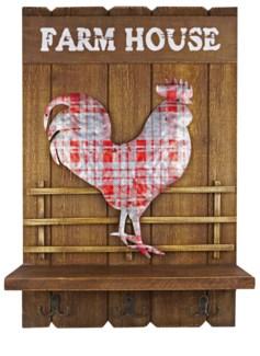 Farm House Hook Hanger, 15.7x4.3x23.6