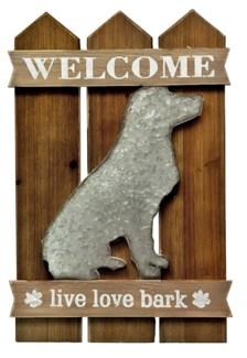 Welcome Dog Wall Decor, 15.7x1x23.6
