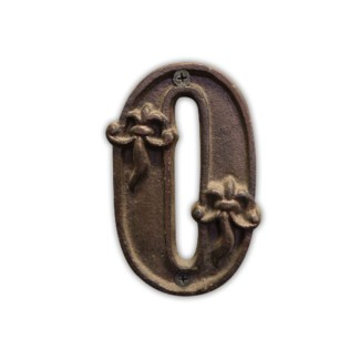 House Number 0. Cast iron. 0.4x2.8x4.5inch.
