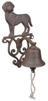 Doorbell dog. Cast iron, cotton cord. 14,3x13,2x24,9cm. oq/8,mc/8 Pg.43