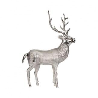 Standing Reindeer Aluminium Nickle Plated Finish 11.5x4x17.5inch.