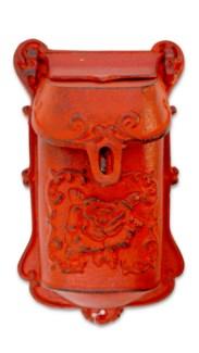 Nazlie Mailbox Red Cast Iron 6.8x2.8x11.4inch.