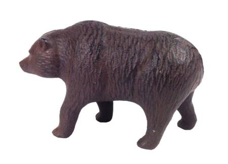 Brown Cast Iron Bear 6.7x2.4x4.2inch. *LAST CHANCE!*