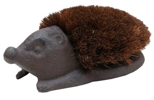 Hedgehog Cast Iron Boot Brush, Brown 10.6x6.5x3.7inch *LAST CHANCE!*