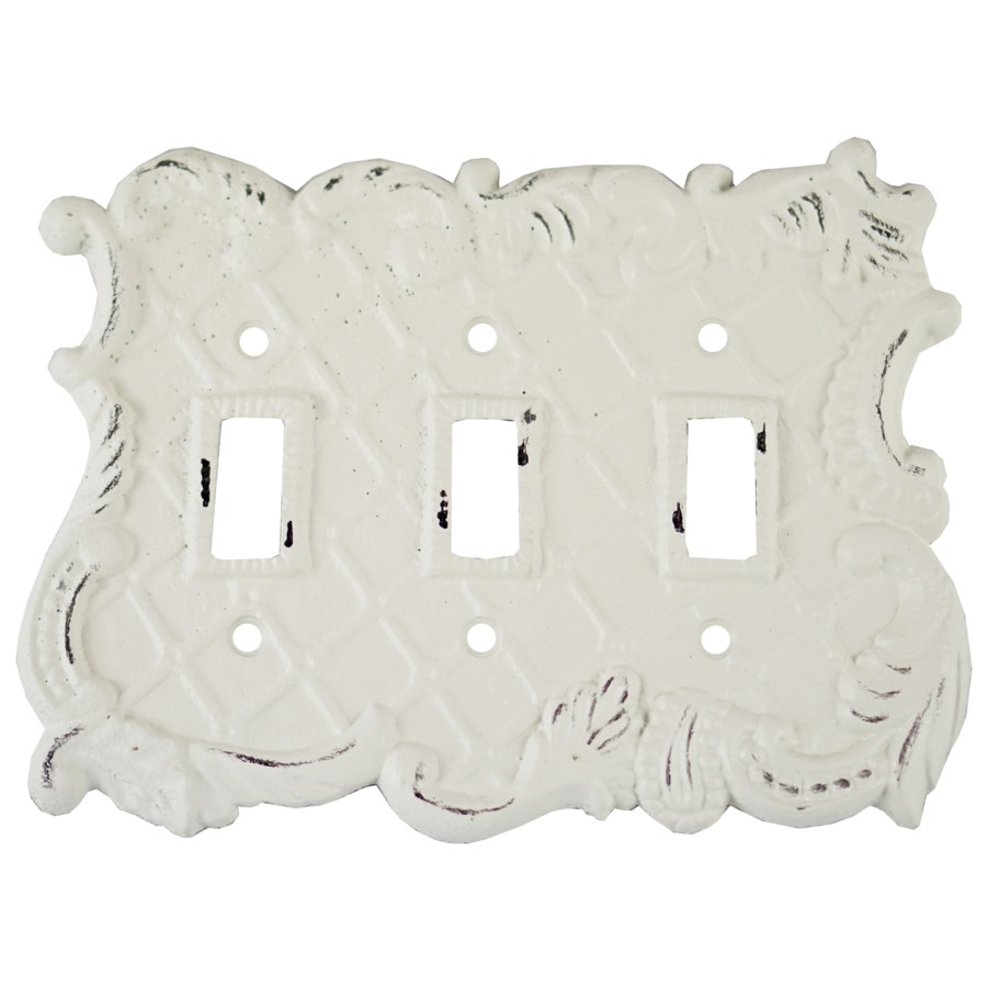 Triple Pole Switch Cover, Antique White 7.4x5.5x0 inches - misc ...