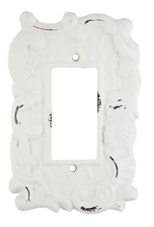 Single Flip Switch Cover, Antique White 3.7x5.6x0 inches