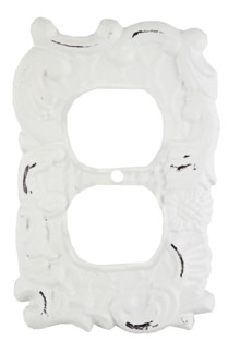 Double Wall Plug Cover, Antique White 3.7x5.7x0 inches
