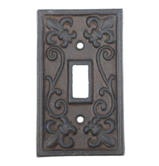 Kel Cast Iron Tuggle Light Switch Cover, Single, Brown 2.8x4.8inch