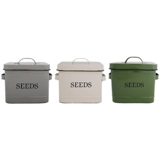 Seed bin ass. Zinc. 24,0x16,5x17,6cm. oq/6,mc/6 Pg.62