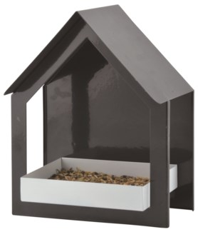 Wall bird table anthracite/white -  (7.6x4.7x9.1 inches)