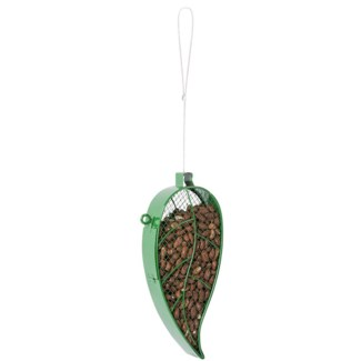Hanging mesh wire bird feeder leaf -  5.12x1.89x28.1