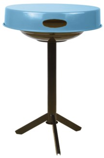 BBQ table blue. Carbon steel. 46,5x46,5x63,0cm. On sale 25 percent off