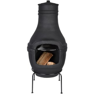 Terrace heater terracotta black L -  16.14x15.75x90