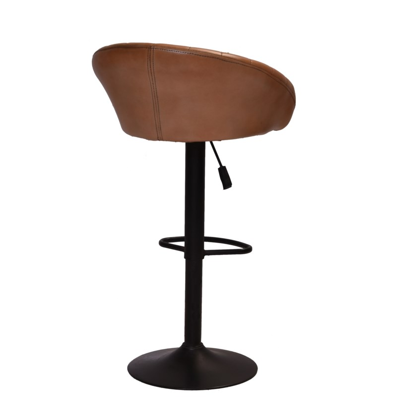 """Pleated Retro Leather Bar Stool, 21x17x32 Inches"""