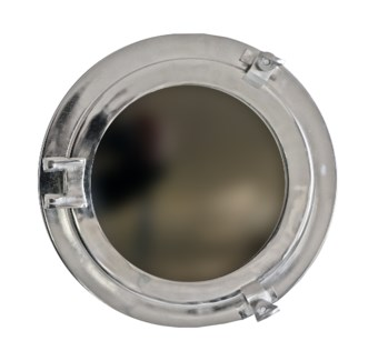 Porthole Mirror, 8inches, Nickel