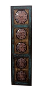 Recycled Old Door World Time Clock 22x5x32 inches On sale 25% off