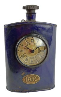 Recycled Wine Bottle Clock 6x2x9 inches On sale 25% off