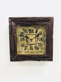 Sillipar Wooden Antique Finish Clock 12x3x12 inches On sale 35% off