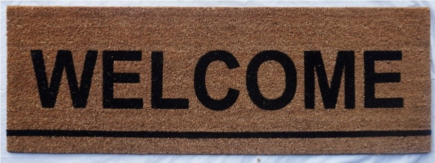 WELCOME Skinny Mat, Natural, 15.7x47 inches, 1.5 cm thick