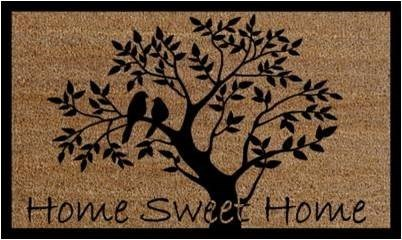 HOME SWEET HOME Mat, Natural, 17.7x29.5 inches, 1.5 cm thick