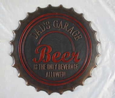 DADs GARAGE, Beer Cap Mat, 19.7x19.7 inches, 1.5 cm thick, Rubber Mat