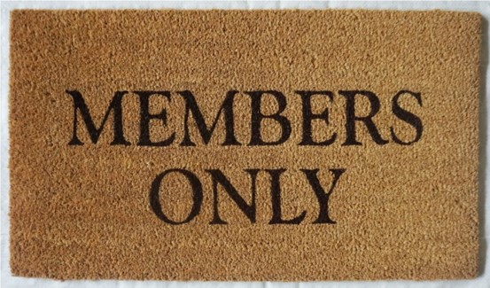 MEMBERS ONLY Mat, Natural, 17.7x29.5 inches, 1.5 cm thick