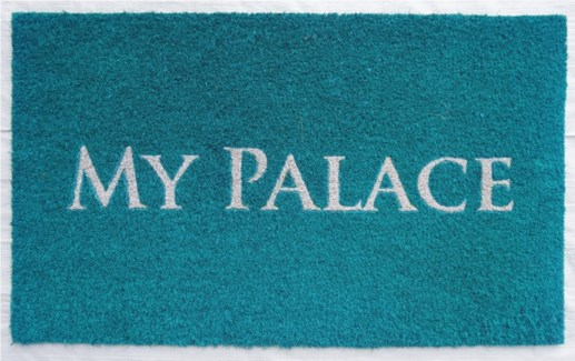 MY PALACE Mat, Turquoise, 17.7x29.5 inches, 1.5 cm thick