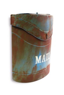 Kinley MAIL Mailbox Rustic Blue. Lid access. 11.4x4.52x13.9