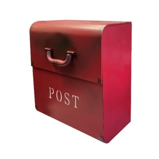 CJ Mailbox, Rustic Red, 12.6x6.9x14.2inch