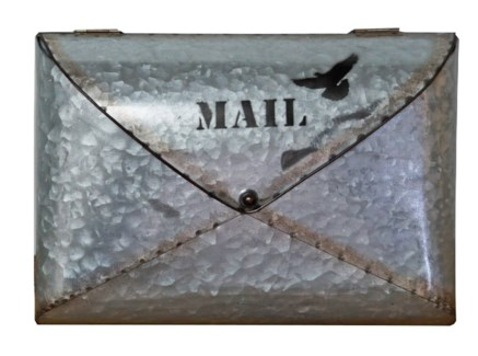 Tom Industrial Post Marked Mailbox, 12.5x2.7x9.4