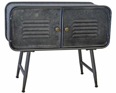 Luke Industrial Console Table, Black, 27.7x11.8x23