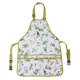 Herb print apron. Polyester, plastic. 29.5x17.9x0.4inch. FD 11/29/2016
