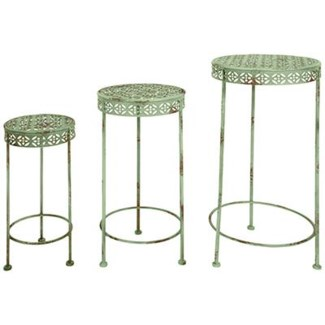 IH Plant tables set of 3. Metal. 19,8x19,8x49,2/25,1x25,1x59,5/30,2x30,2x69,5cm. oq/2,mc/2 Pg.107