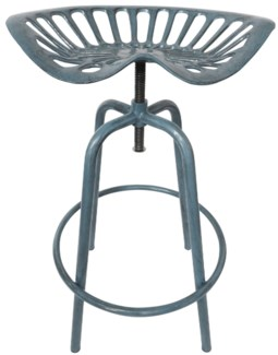 Tractor chair blue. Cast iron, steel. 50,0x46,5x69,7cm.